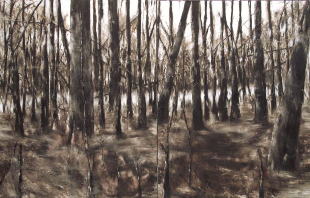 07 Fûtaie 2012 huile sur toile 180x280cm_Frantz_Metzger