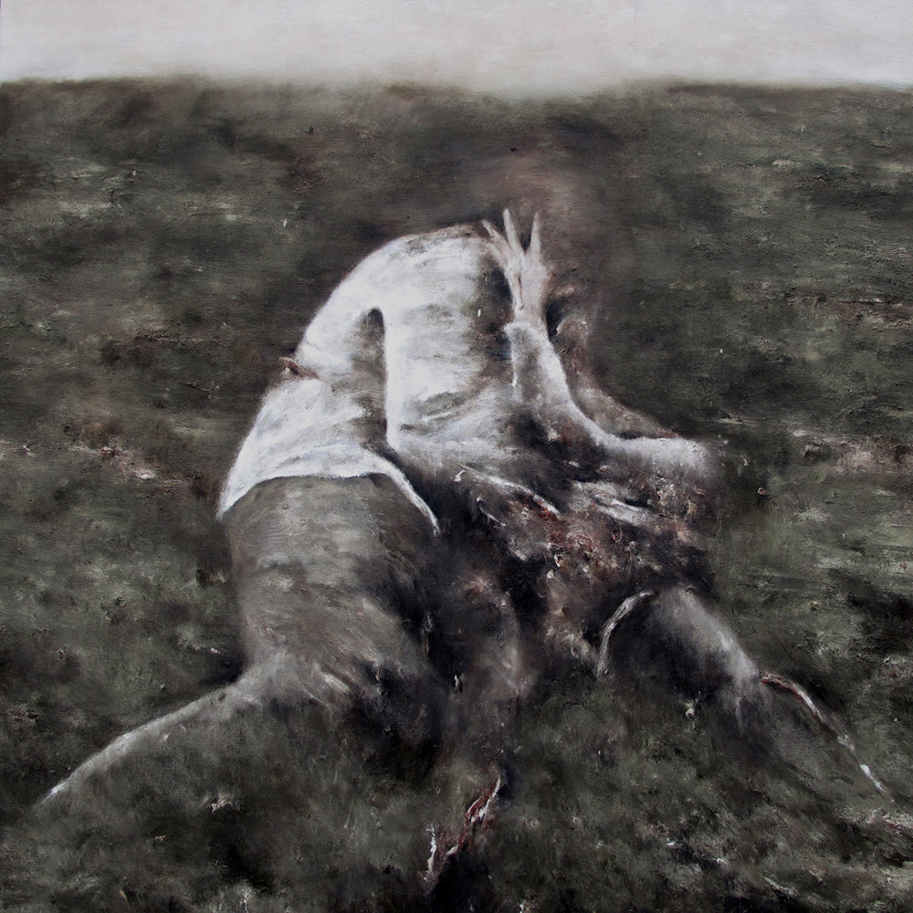 Aurore- 100x100cm huile sur toile