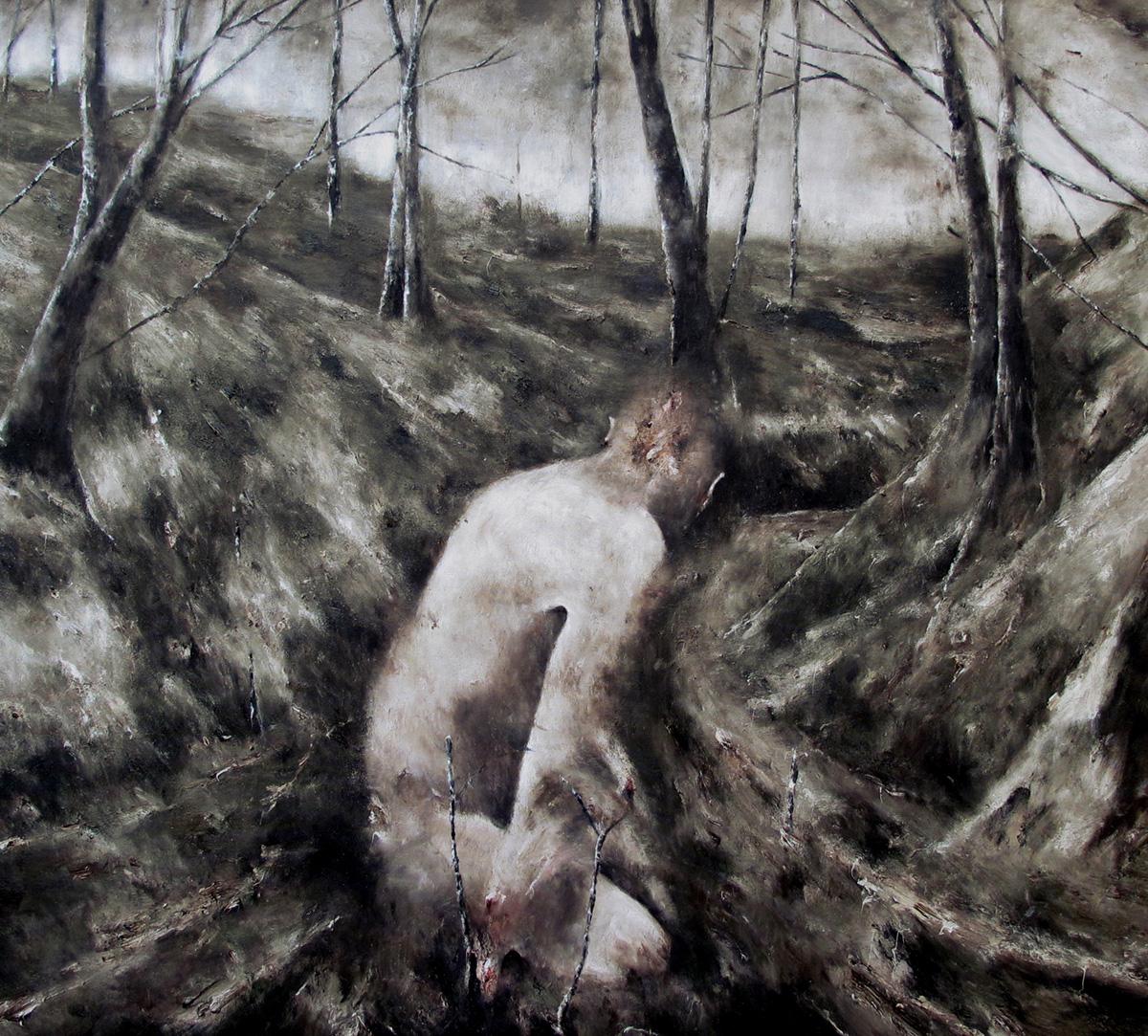 Selva Oscura 125x140cm huile sur toile